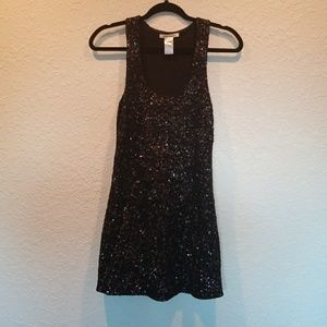 XS Alice + Olivia Black and Gray Sequin Dress